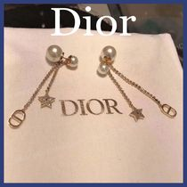 Christian Dior Costume Jewelry Casual Style Party Style Earrings