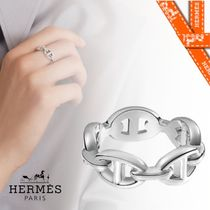 HERMES Casual Style Silver Office Style Elegant Style Formal Style