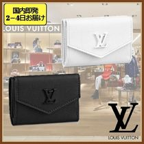 Louis Vuitton Unisex Leather Folding Wallet Small Wallet Coin Cases