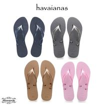 havaianas Tropical Patterns Casual Style Flip Flops Flat Sandals