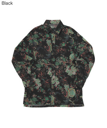 Flower Patterns Unisex Street Style Shirts