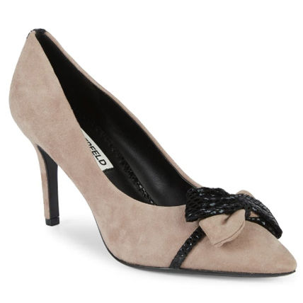 Suede Pointed Toe Pumps & Mules