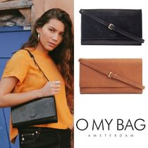 O MY BAG Casual Style 2WAY Plain Leather Elegant Style Clutches