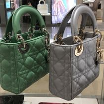 Christian Dior LADY DIOR Lambskin 2WAY 3WAY Chain Plain Leather Party Style