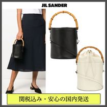 Jil Sander Casual Style Blended Fabrics Vanity Bags 2WAY Plain Leather