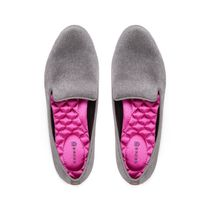 BIRDIES Plain Toe Rubber Sole Casual Style Velvet Plain Office Style
