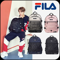 FILA Casual Style Unisex Street Style A4 Oversized Backpacks