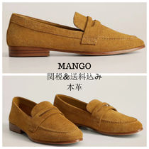 MANGO Plain Toe Casual Style Plain Leather Office Style