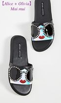 Alice+Olivia Rubber Sole Casual Style Leather Sandals Sandal