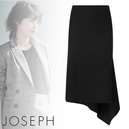 Casual Style Linen Plain Office Style Skirts