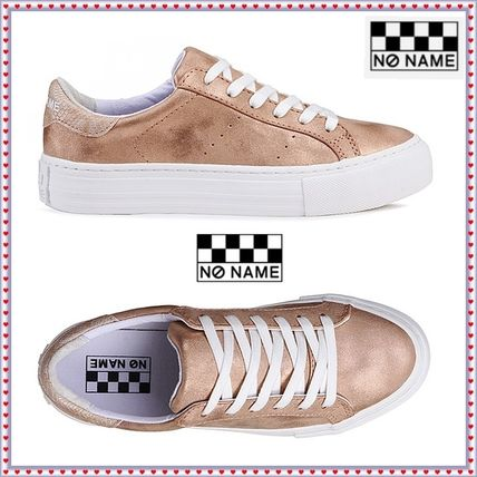 Rubber Sole Casual Style Unisex Street Style Plain Leather