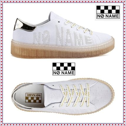 Rubber Sole Casual Style Unisex Street Style Plain