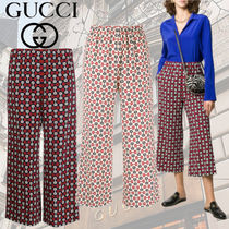 GUCCI Casual Style Medium Culottes