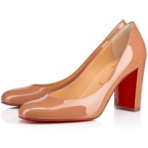 Christian Louboutin Round Toe Casual Style Plain Leather Party Style
