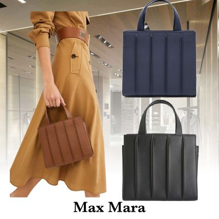 Casual Style Calfskin 2WAY Plain Party Style Office Style