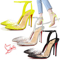 Christian Louboutin Dots Casual Style Pin Heels Party Style PVC Clothing