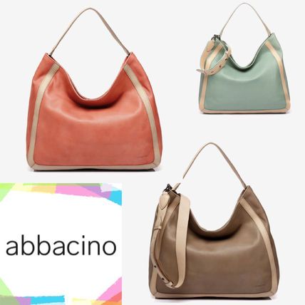 Casual Style A4 2WAY Leather Elegant Style Totes