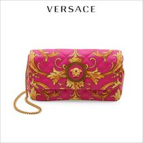 VERSACE Street Style 2WAY Chain Leather Party Style Elegant Style