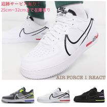 Nike AIR FORCE 1 Unisex Plain Leather Sneakers