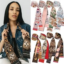 Louis Vuitton Paisley Tropical Patterns Casual Style Silk