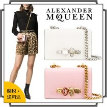 alexander mcqueen Casual Style Blended Fabrics 2WAY Bi-color Chain Plain