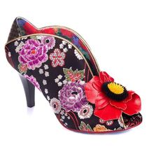 Irregular Choice Flower Patterns Open Toe Casual Style Blended Fabrics