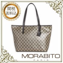MORABITO Monogram Casual Style Calfskin A4 Office Style Elegant Style