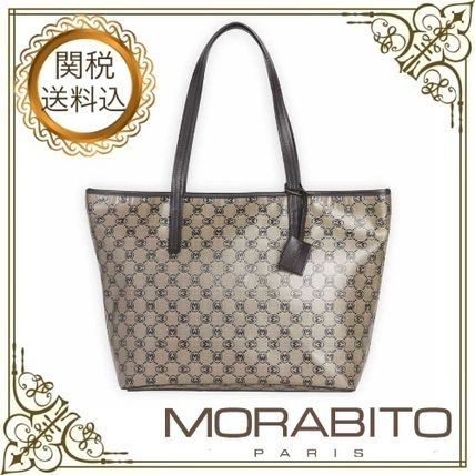 Monogram Casual Style Calfskin A4 Office Style Elegant Style