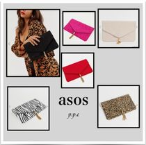 ASOS Zebra Patterns Leopard Patterns Casual Style Tassel Plain