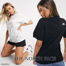 THE NORTH FACE Crew Neck Short Street Style Short Sleeves Logo Cropped