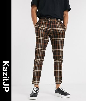 River Island Other Plaid Patterns Cropped Pants