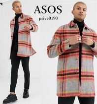 ASOS Other Plaid Patterns Wool Street Style Trench Coats