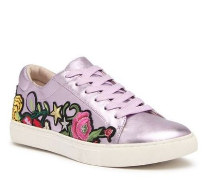 Flower Patterns Star Round Toe Rubber Sole Casual Style