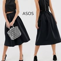 ASOS Flared Skirts Casual Style Plain Medium Party Style