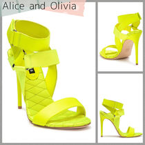 Alice+Olivia Open Toe Casual Style Leather Party Style Elegant Style