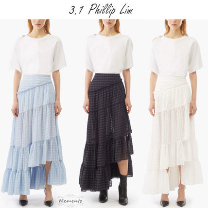 Gingham Casual Style Skirts