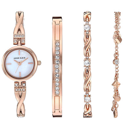 Round Metal Party Style Quartz Watches With Jewels