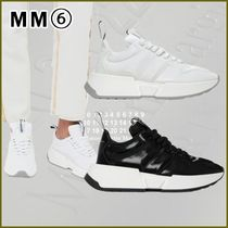 MM6 Maison Margiela Round Toe Rubber Sole Casual Style Plain Low-Top Sneakers
