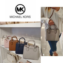 Michael Kors Casual Style 2WAY Plain Leather Crossbody Logo Handbags
