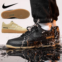Nike AIR FORCE 1 Unisex Street Style Leather Logo Gore-Tex Sneakers