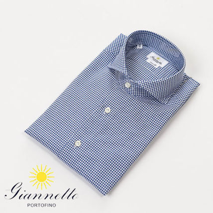 Gingham Long Sleeves Cotton Shirts