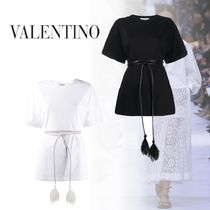 VALENTINO Plain Short Sleeves Oversized T-Shirts