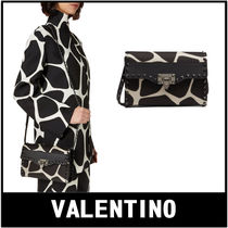 VALENTINO Casual Style Calfskin 2WAY Other Animal Patterns Crossbody