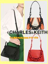 Charles&Keith Casual Style Faux Fur Chain Plain Party Style Crossbody