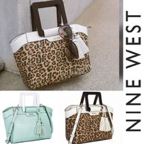 Nine West Leopard Patterns Casual Style Blended Fabrics 2WAY Plain