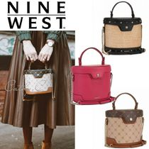 Nine West Casual Style Blended Fabrics 2WAY Chain Plain Party Style