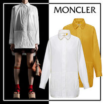 MONCLER Casual Style Blended Fabrics Long Sleeves Plain Cotton