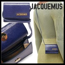 JACQUEMUS Casual Style Leather Party Style Shoulder Bags