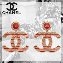 CHANEL Costume Jewelry Casual Style Blended Fabrics Leather