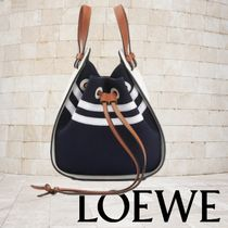 LOEWE HAMMOCK Casual Style Calfskin 2WAY 3WAY Bi-color Plain Leather